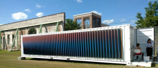 "SCAD Museum of Art: From Carlos Cruz-Dies ""Chroma"": outside of a shipping container. The inside is even more awesome"
