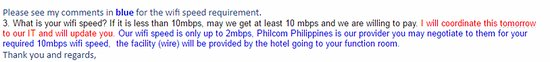 Park Inn by Radisson Davao: Poor reply