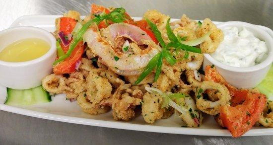Courtenay, Καναδάς: AQUA Bistro - Crispy Calamari