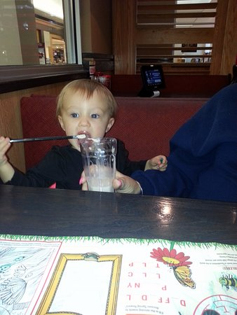 Norridge, IL: If he is having a shake, I want some, as well!