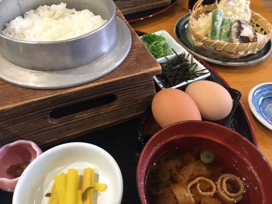 Shiso, Japón: 卵かけごはん定食天ぷら付き