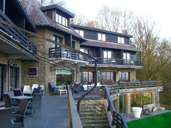 Kemmel, Belgio: Vue de l'hôtel depuis la terrasse