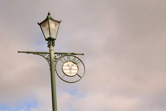 Tirau town's street lamp
