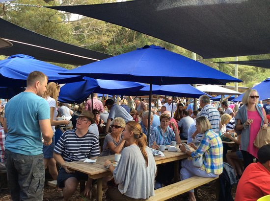 Hermanus, Güney Afrika: Enjoying a chat and drink