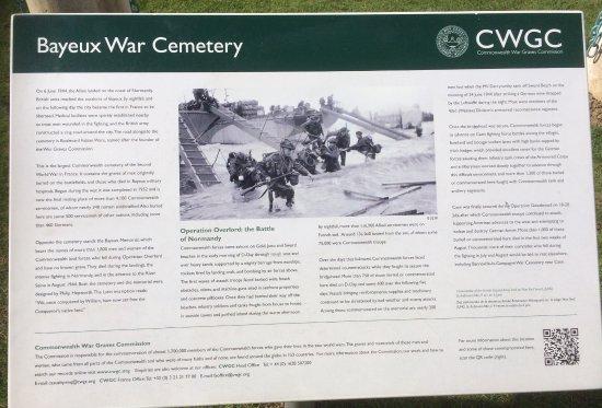 Cimetière Militaire Britannique : Visitor Board