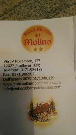 Pradleves, Italie : Antico Albergo Ristorante Del Molino