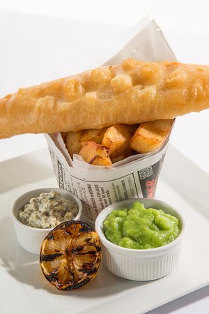 Grindleford, UK: Fish and Chips