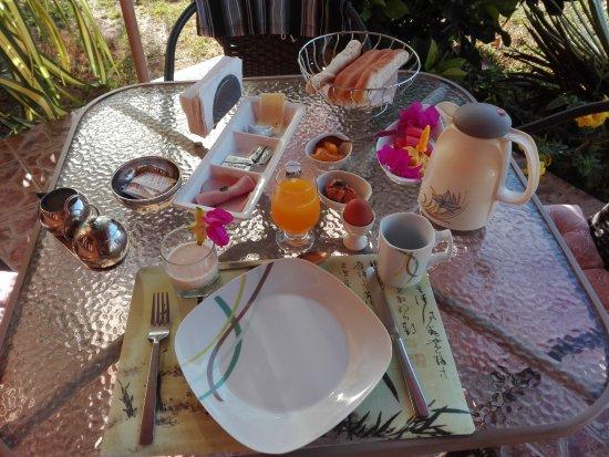 Las Lajas, Panama: das Frühstück