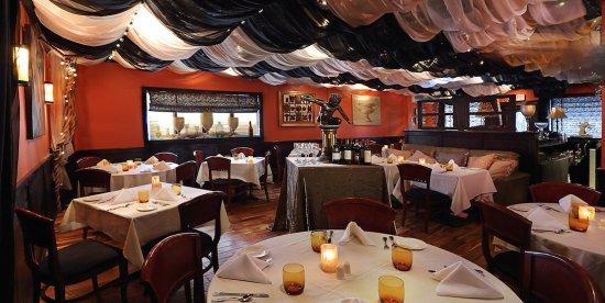 Nicole's Restaurant's intimate and romantic main dining room
