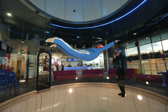 iFLY Downunder: Nathan instructs me to keep your chin up as I fly. Just awesome.