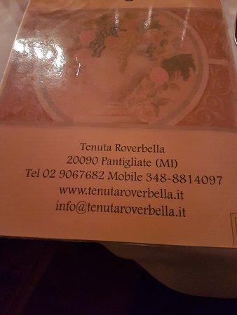 Pantigliate, Italie : indirizzo e telefono del ristorante.