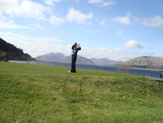 The Dragons Tooth Golf Course: teeing off at the fourth hole