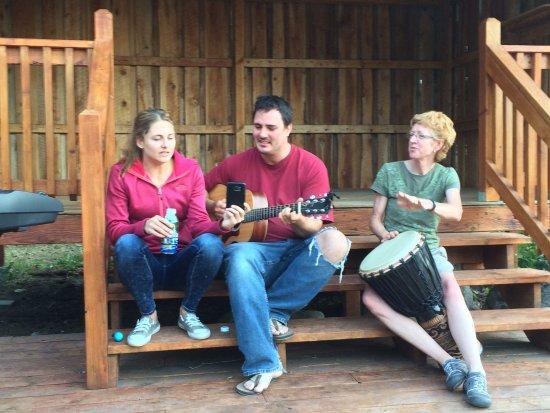 Hall, MT: Guests having  musical fun