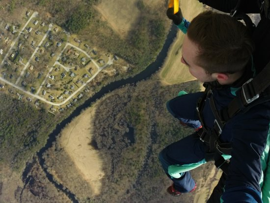 Killingly, CT: After the one minute freefall ended.
