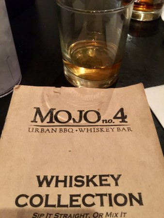 MOJO Number 4, Urban BBQ Whiskey Bar : Whiskey menu