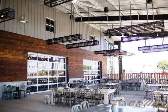 Turlock, CA: Dust Bowl Brewing Co. Brewery Taproom outdoor patio.