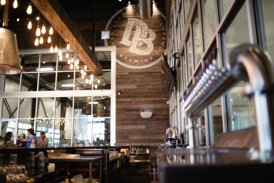 Turlock, CA: Dust Bowl Brewing Co. Brewery Taproom features two 20 tap towers.
