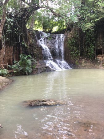 Micoud, St. Lucia: The falls all to ourselves.