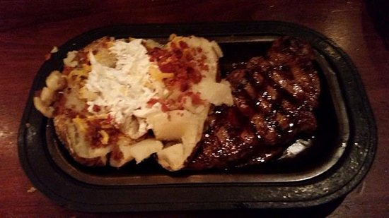 Independence, MO: Hereford House KC Strip Steak and Loaded Potato