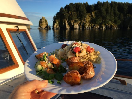 Kodiak Island, AK: With Galley Gourmet, it's a feast underway...