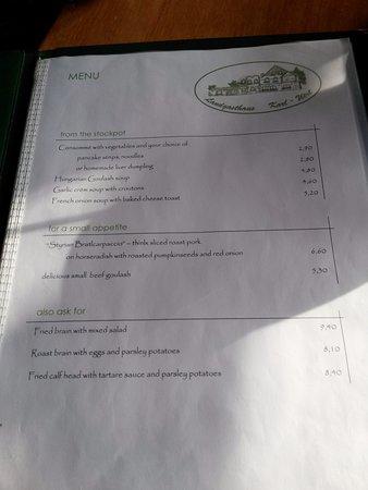 Perchtoldsdorf, النمسا: меню