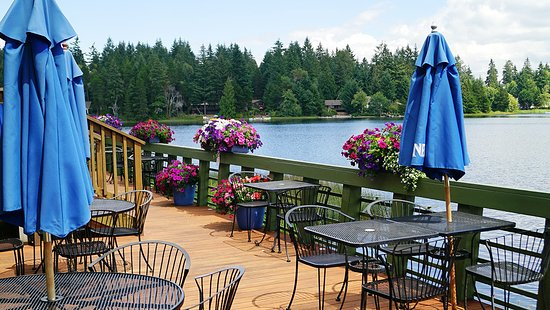 Lakeshore Restaurant Anderson Island overlooks beautiful Lake Josephine. Great food.