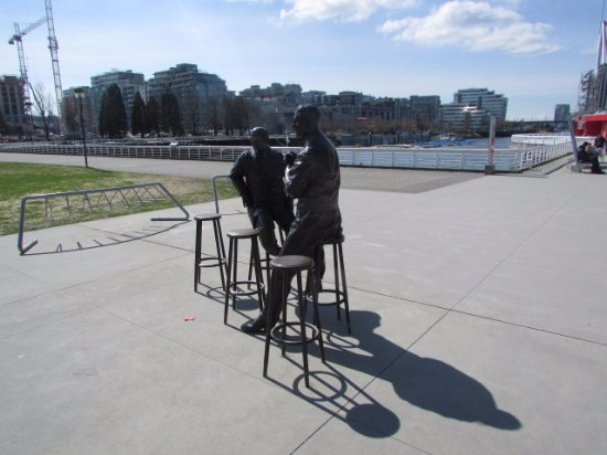 Bronze Men Outside Science World