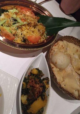 Le Raj Restaurant: Beautifully presented meal