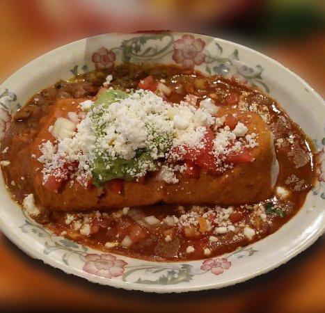 Plaza Bonita mexican: Green Chili Burrito