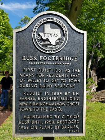 Rusk, TX Footbridge