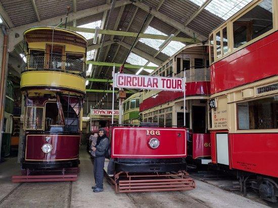 Crich Tramway Village: more models inside the depot