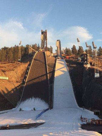 Falun, Svezia: Ski jumping slope in the beginning of December