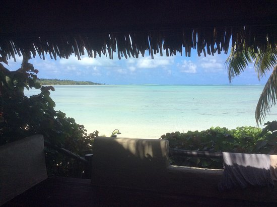 Pacific Resort Aitutaki: Aussicht vom Bungalow
