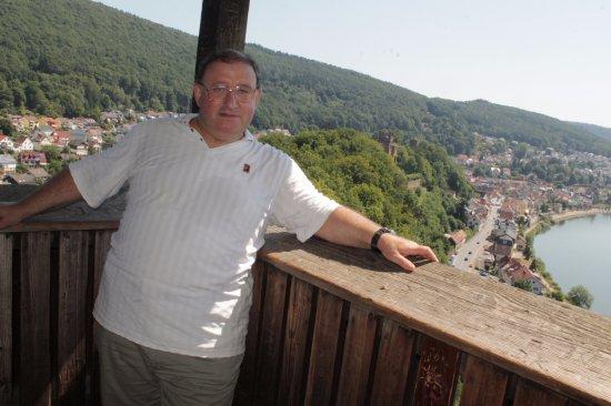 Neckarsteinach, Alemania: Неккарштайнах с высоты птичьего полета