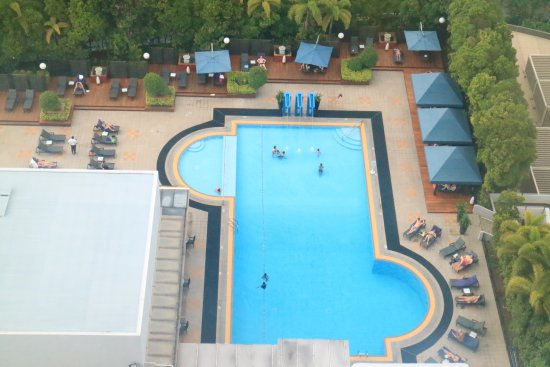 Pool from 21st floor picture of marina mandarin - Marina mandarin singapore swimming pool ...