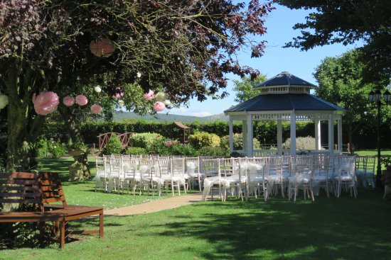 Lympsham, UK: Wedding Gazebo - After the ceremony