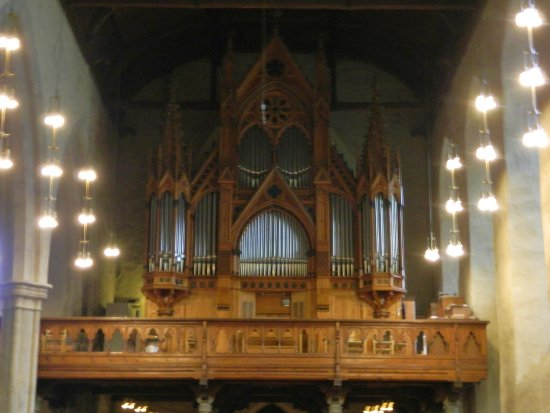 Domkirken (Bergen Cathedral) : The organ built by Austrian firm Rieger Orgelbau in 1997