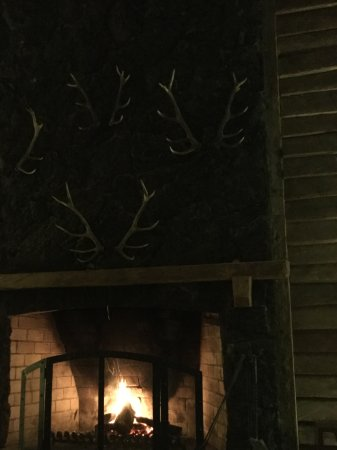 Hotel Cumbres Puerto Varas: Fire place in lounge