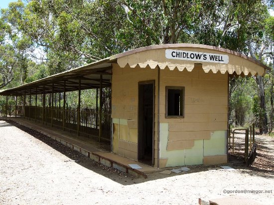 Chidlow, Australia: the old train station by lake leschenaultia