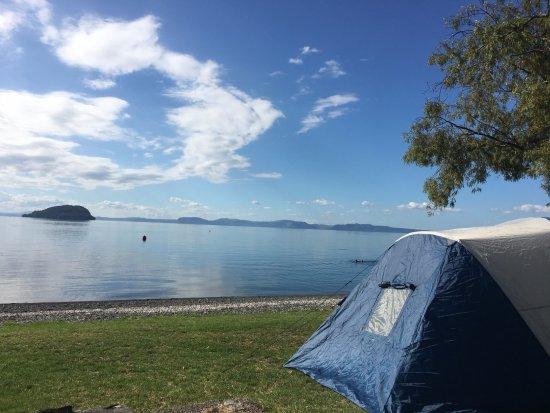 Turangi, New Zealand: The only waterfront camping on Lake Taupo