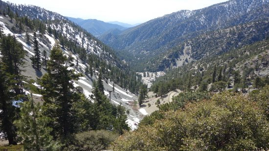 Mount Baldy, Californië: view from the top