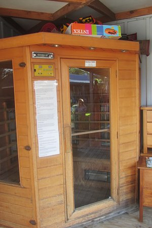 Raglan Backpackers and Waterfront Lodge: Sauna :D