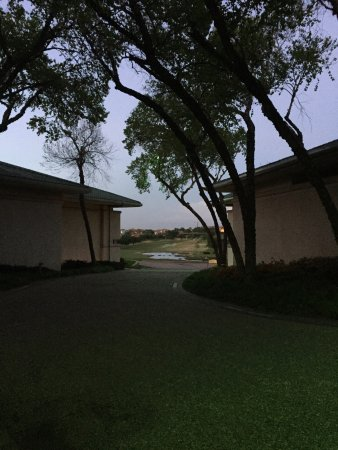 Irving, TX: April, 2017 visit, night view from front facing room #250