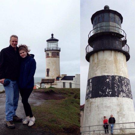 Ilwaco, WA: North Head Lighthouse & Cape Disappointment Lighthouse. North Head in repair March 2017