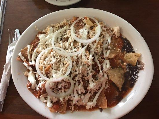 Cafe la Habana : Chilaquiles sin sabor y salados