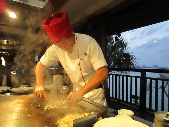 Benihana Chef And View Of The Intracoastal