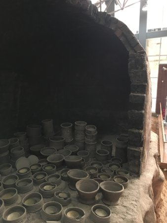 Wangcheng County, China: A replica of the kiln revealing the interior