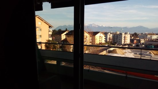 Ecublens, Switzerland: City and Alps