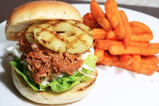 The Bank Bar + Bistro: Pulled Pork Burger