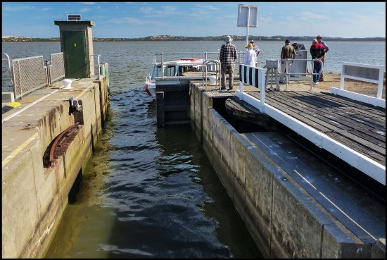 Goolwa, Australia: Entering The Tauwitchere Lock